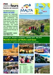 Oktober 2012 - Mai 2013 Wanderwoche auf Malta und ... - Xenotours