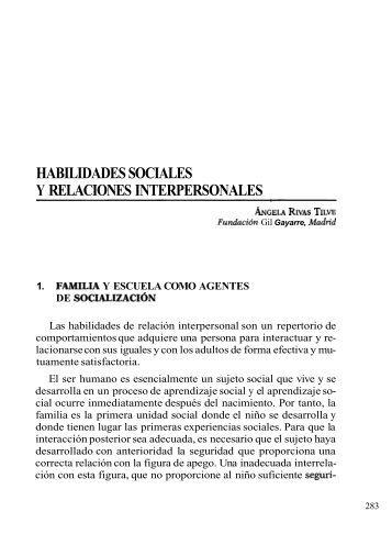 habilidades sociales y relaciones interpersonales - Feaps