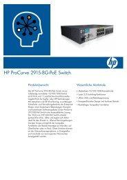 HP ProCurve 2915-8G-PoE Switch - 3KV