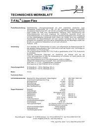 TECHNISCHES MERKBLATT T-FAL Lippe-Flex - 3ks profile gmbh