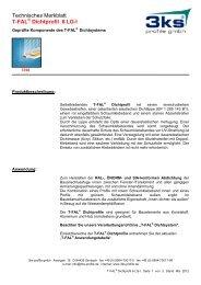 Technisches Merkblatt T-FAL Dichtprofil 6 LG-I - 3ks profile gmbh