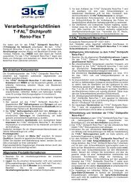 Dichtprofil Reno-Flex T - 3ks profile gmbh