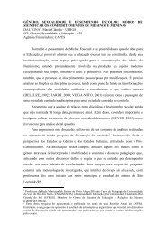 GÊNERO, SEXUALIDADE E DESEMPENHO ESCOLAR ... - ANPEd