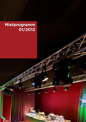 Mietprogramm 01/2012 - X-Light Eventtechnik
