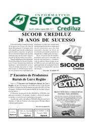 Informativo 07 | Junho a Agosto de 2008 - SICOOB CREDILUZ