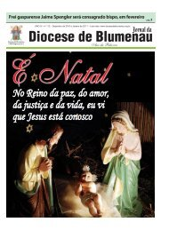 Ano XI, edição 112, Dezembro de 2010 É - Diocese de Blumenau