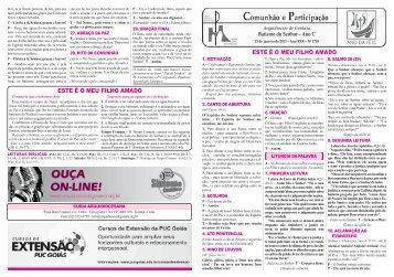 13 de janeiro de 2013 - Arquidiocese de Goiânia