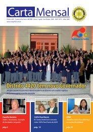Julho de 2008 • Carta Mensal - Distrito 4420