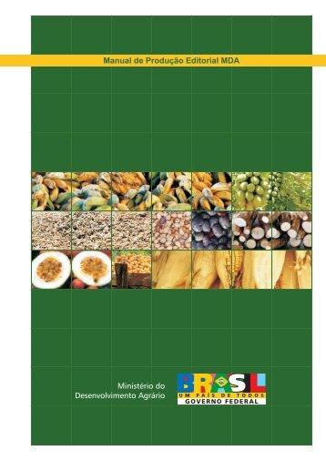 Manual de Produção Editorial MDA - Ministério do Desenvolvimento ...