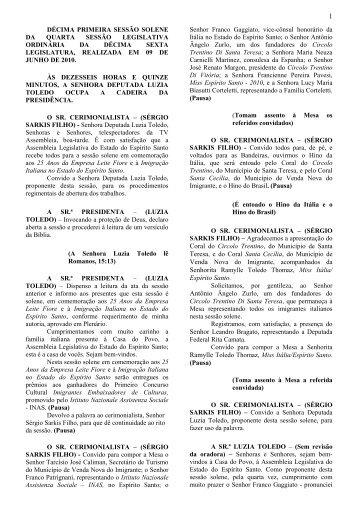 décima primeira sessão solene da quarta sessão legislativa