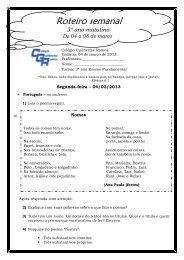 04 a 08 de Março - 3º Ano Mat - Colégio Guilherme Ramos