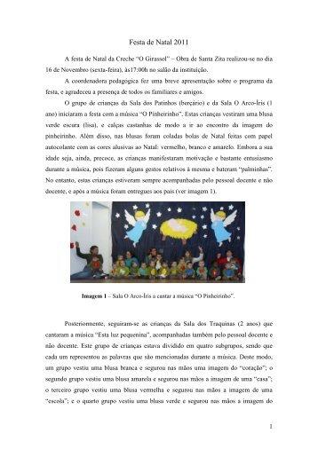 Festa de Natal 2011 - Casa de Faro - Obra de Santa Zita