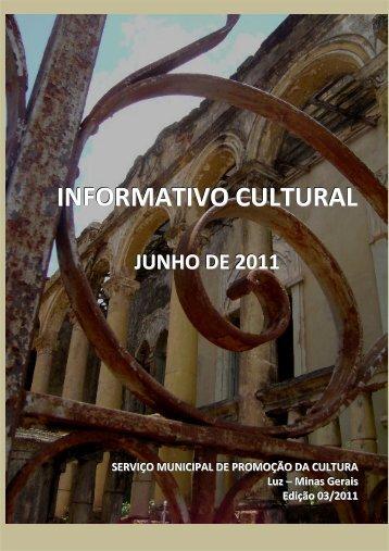 INFORMATIVO CULTURAL - Prefeitura Municipal de Luz