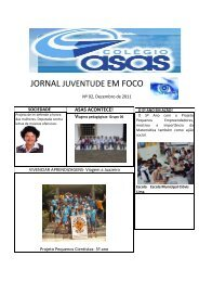 JORNAL JUVENTUDE EM FOCO - Colegioasas.com.br