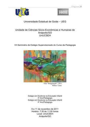 Universidade Estadual de Goiás - II Simpósio Nacional Espaço ...