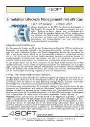 Simulation Lifecycle Management mit eProtas - 4Soft