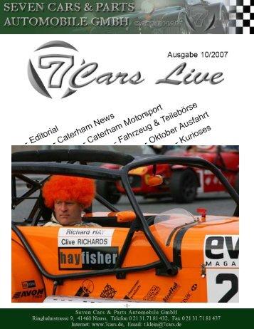Oktober 2007 - Seven Cars & Parts
