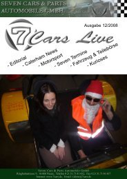 Dezember 2008 - Seven Cars & Parts