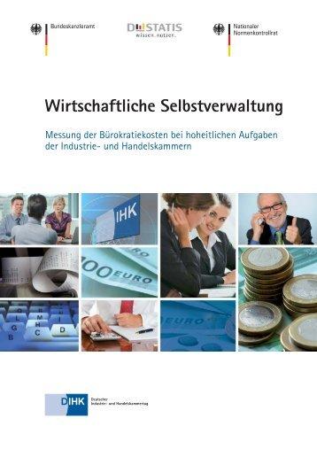 Messung der Bürokratiekosten bei hoheitlichen Aufgaben - und ...