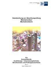Handreichung zur Abschlussprüfung Mechatroniker - und ...