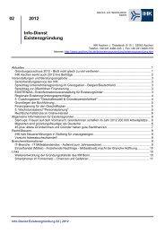 Info-Dienst Existenzgründung 02/2012 - und Handelskammer Aachen