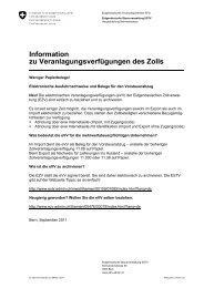 Information zu Veranlagungsverfügungen des ... - Willi & Partner AG