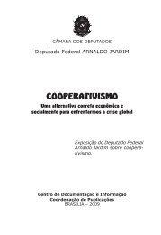 Livro Cooperativismo - Deputado Federal Arnaldo Jardim