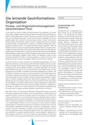 Die lernende Geoinformations- Organisation