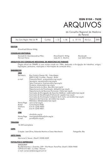n. 86 - Conselho Regional de Medicina do Estado do Paraná
