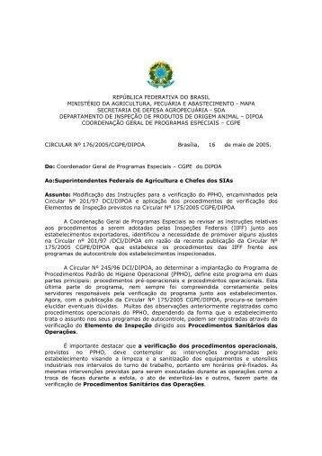 república federativa do brasil ministério da agricultura - Abef