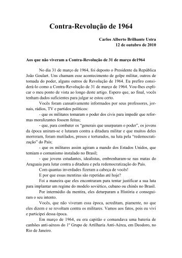 Contra-Revolução de 1964 - Academia Brasileira de Defesa