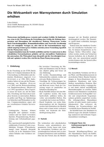 Die Wirksamkeit von Warnsystemen durch Simulation erhöhen - WSL