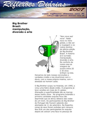 Big Brother Brasil: manipulação, diversão e arte