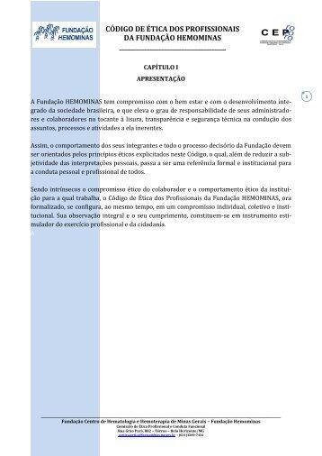 Código de Ética Profissional da Hemominas
