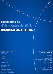 resultado do 4T12 - Comunique-se :: Mailing Imprensa Plus