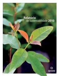 Relatório de Sustentabilidade 2010 - Suzano Papel e Celulose