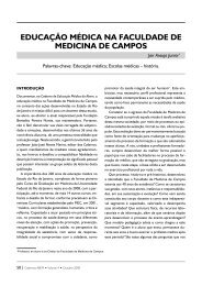 EDUCAÇÃO MÉDICA NA FACULDADE DE MEDICINA DE CAMPOS