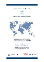 Relatório da Administração – 2010 Uma Empresa de ... - Marfrig