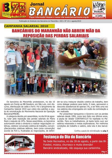 campanha salarial 2010 - Sindicato dos Bancários do Maranhão