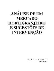análise de um mercado hortigranjeiro e sugestões de intervenção