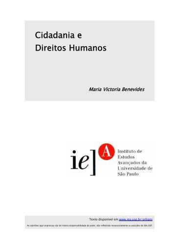 Cidadania e Direitos Humanos - IEA - USP