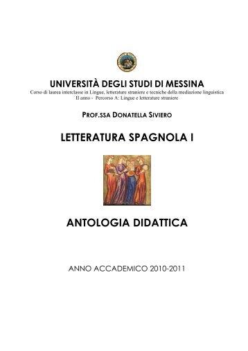 Antologia 2010-11 - Università degli Studi di Messina