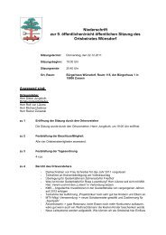 Niederschrift zur 9. öffentlichen/nicht öffentlichen Sitzung  des ...