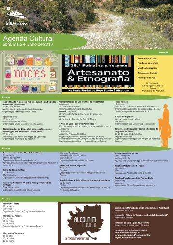 agenda 2º trimestre - Câmara Municipal de Alcoutim
