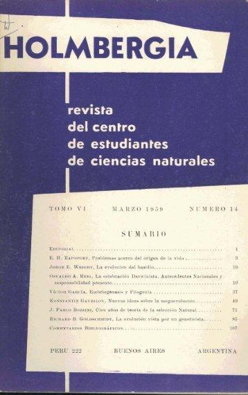 Biblioteca Digital   FCEN-UBA   Holmbergia Nº 14 Revista del ...