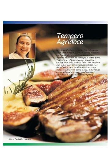 carré boccu com figos caramelizados - Carne Suína Brasileira
