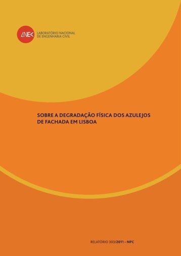 Relatório 303/2011-NPC - Lnec
