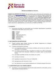Arquivo 2 - Banco do Nordeste