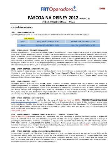 PÁSCOA NA DISNEY 2012 (GRUPO 2) - FRT Operadora de Turismo