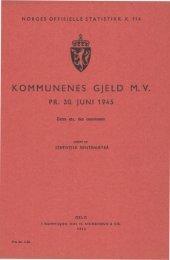 Kommunenes gjeld m.v. pr. 30.juni 1945 - SSB